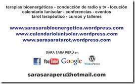 Sara Sara Peru, bioenergetica, sara ballon, tarjeta y logo